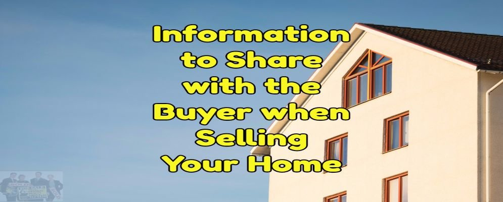 information needed to sell your home