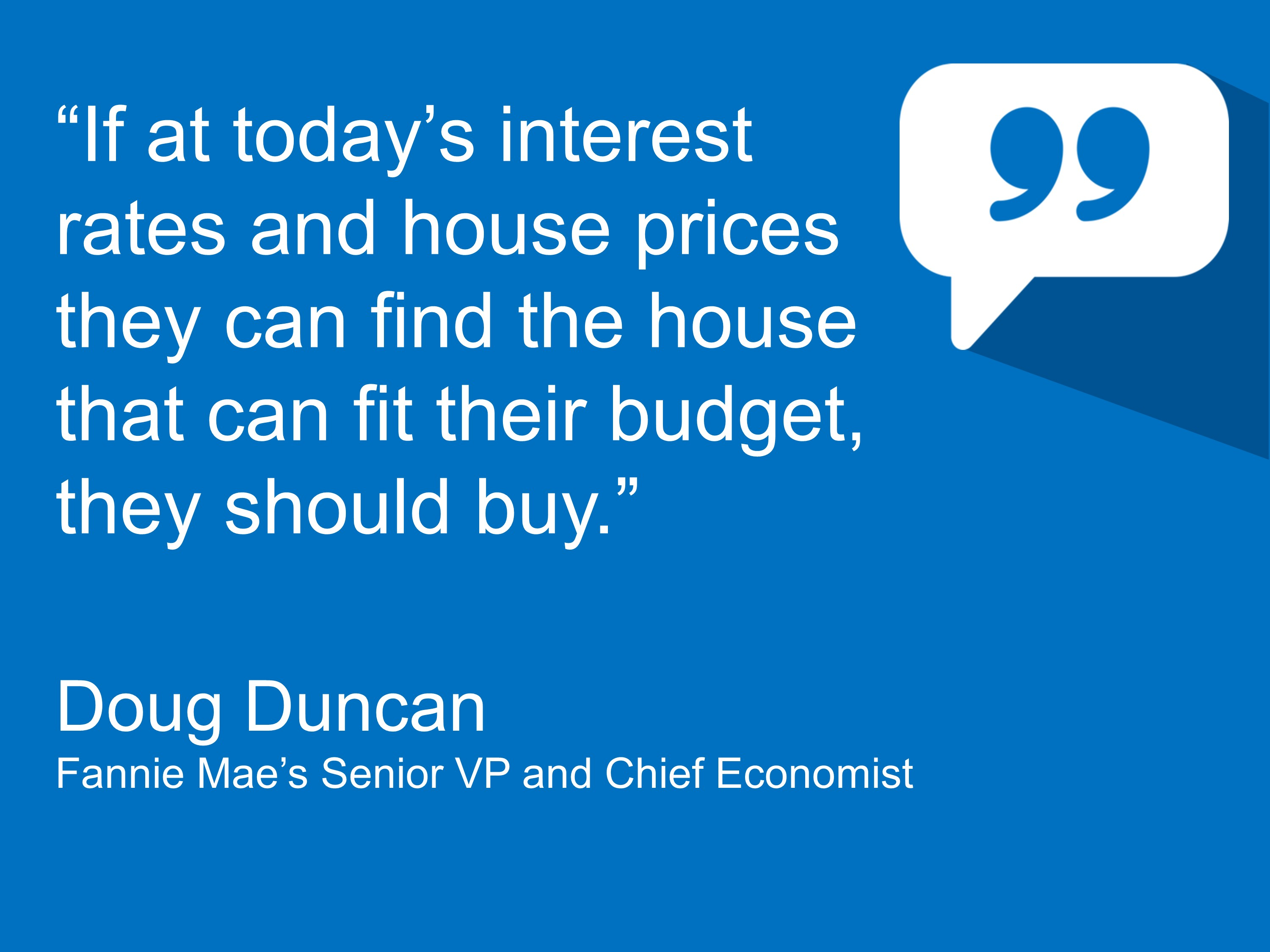 chief economist says you should buy a home if you ccan