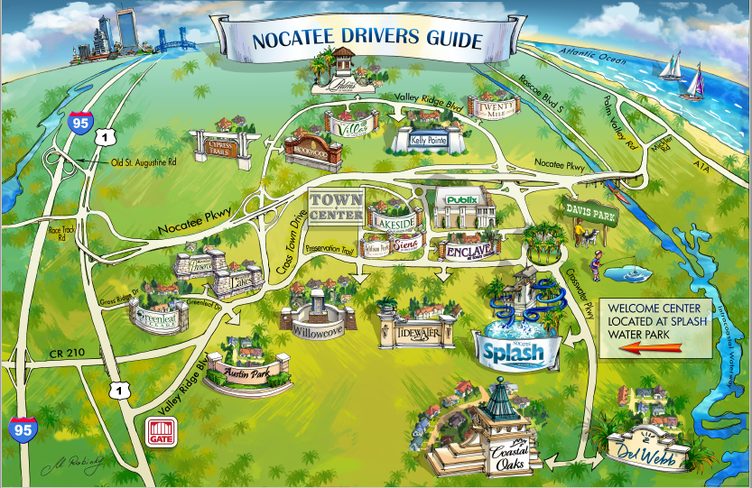 Nocatee Map Ponte Vedra FL 32081