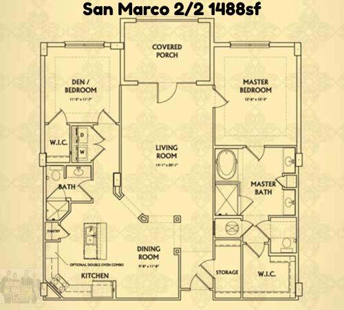 San Marco 2/2 1488sf Valencia Condo Jacksonville Beach Floor Plan ...