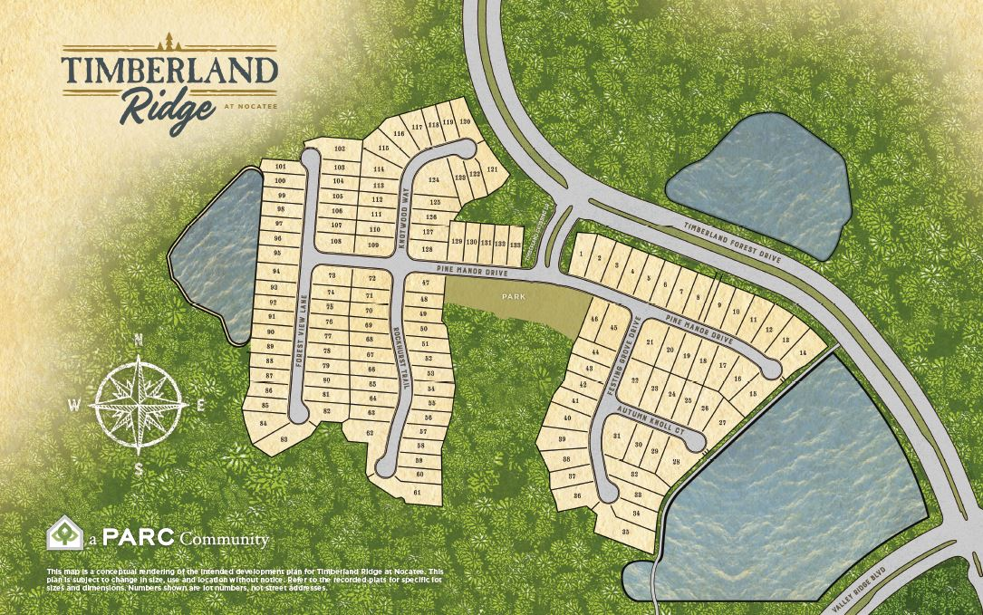 Timberland Ridge at Nocatee Site Map
