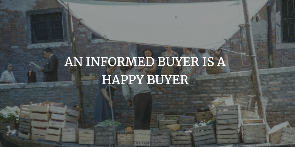AN INFORMED BUYER IS A HAPPY BUYER