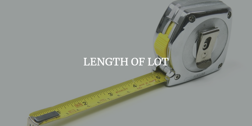 LENGTH OF LOT