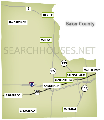 Baker County Map