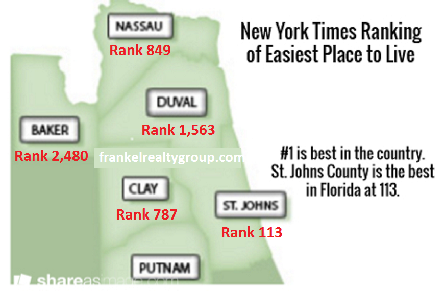 new york times rates st johns county as easiest place to On best place to live in tampa for families